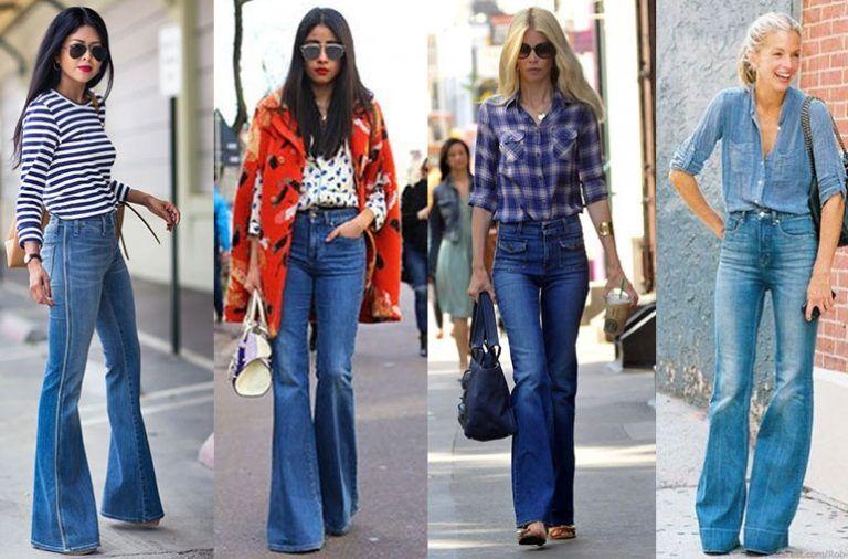 La Eterna Tendencia De Los Jeans Campana Nunca Pasan De Moda